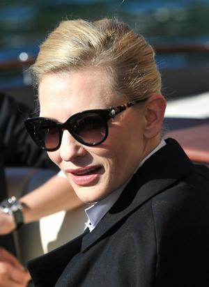 Cate Blanchett avvistata con gli occhiali Lanvin