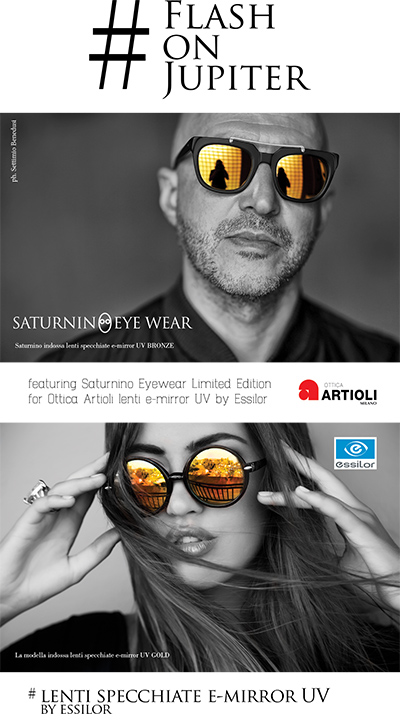 Essilor e Saturnino Eyewear: nuove lenti per Jupiter1
