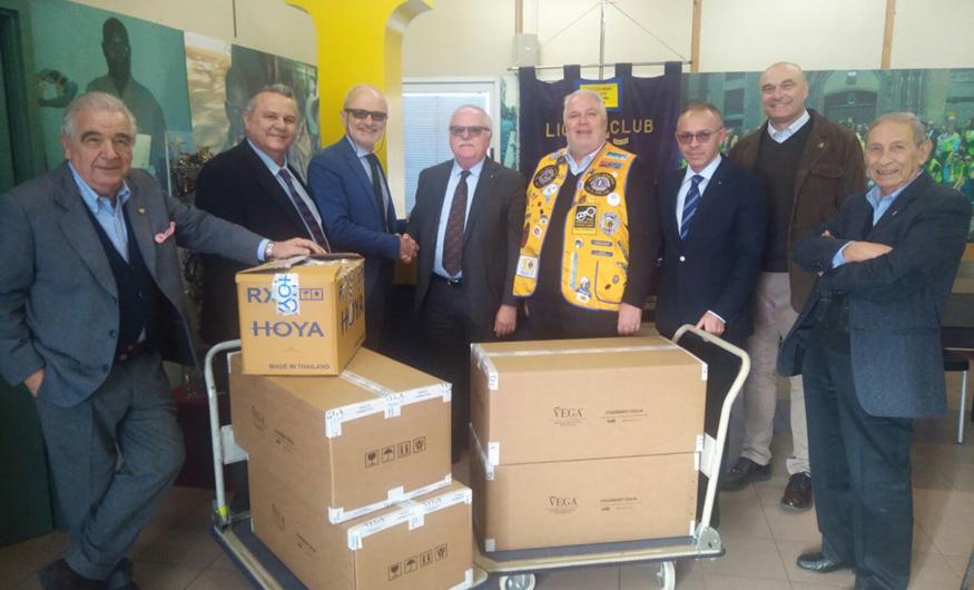 Operazione donazione occhiali in collaborazione con Lions Club