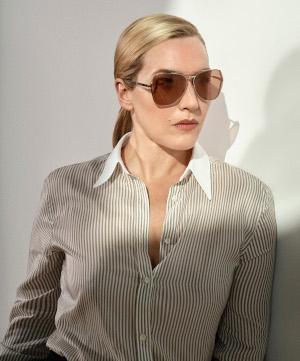L'attrice britannica premio Oscar Kate Winslet è la testimonial degli occhiali Longines.