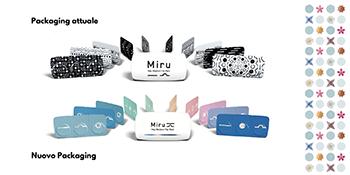 Miru 1day Flat Pack: la lente con il blister più sottile al mondo rinnova il design del packaging.