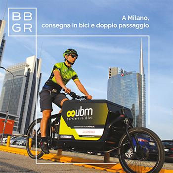 A Milano BBGR Italia consegna le lenti ai centri ottici su due ruote.